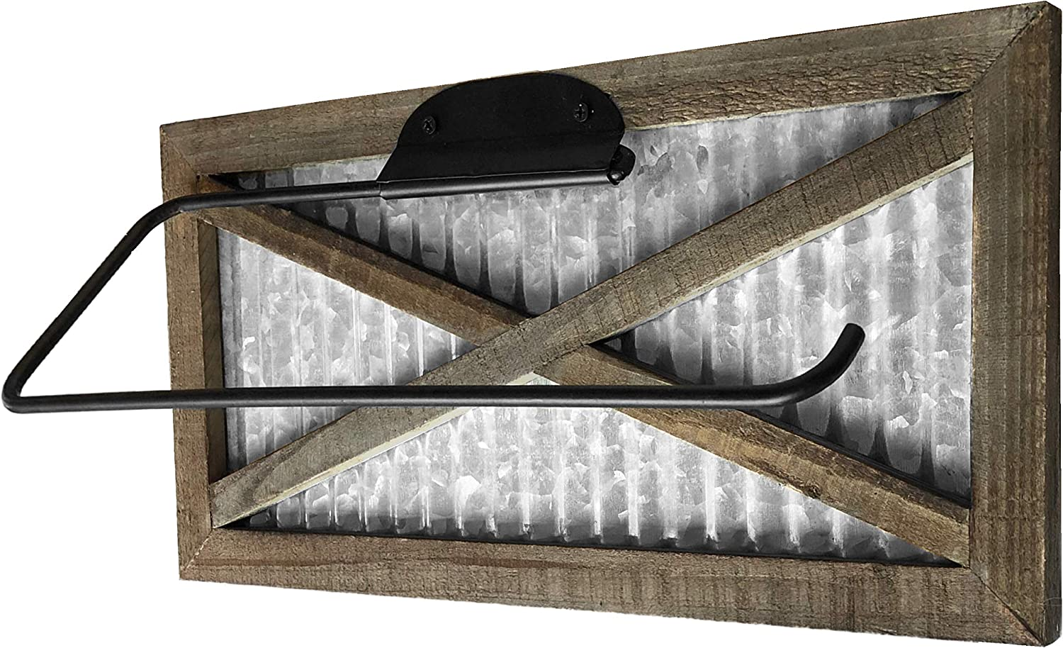 Autumn Alley Max 83% OFF Rustic Barn Door Paper Atlanta Mall Home - Country Holder Towel