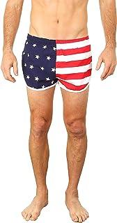 UHT28DG American Flag Ribbons Pattern Mens Boardshorts Fashion Bathing Suit 2