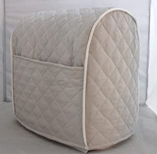 Simple Home Inspirations Quilted Cover Compatible for KitchenAid Stand Mixer, Piped with 2 Pockets (Ash Gray, Lift)