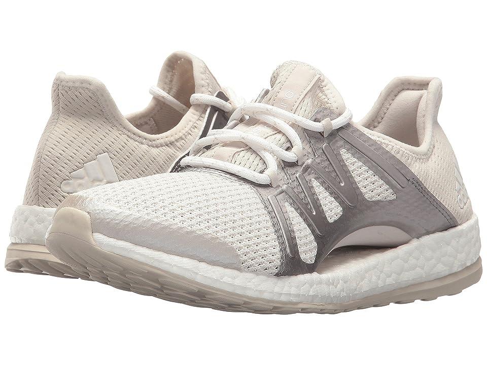 adidas Running PureBOOST Xpose (Crystal White/Silver Metallic/Clear Brown) Women