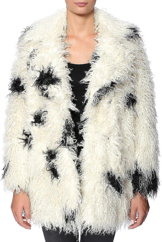Cheap Monday Women's Smudgy Leopard Faux Fur Curl Jacket