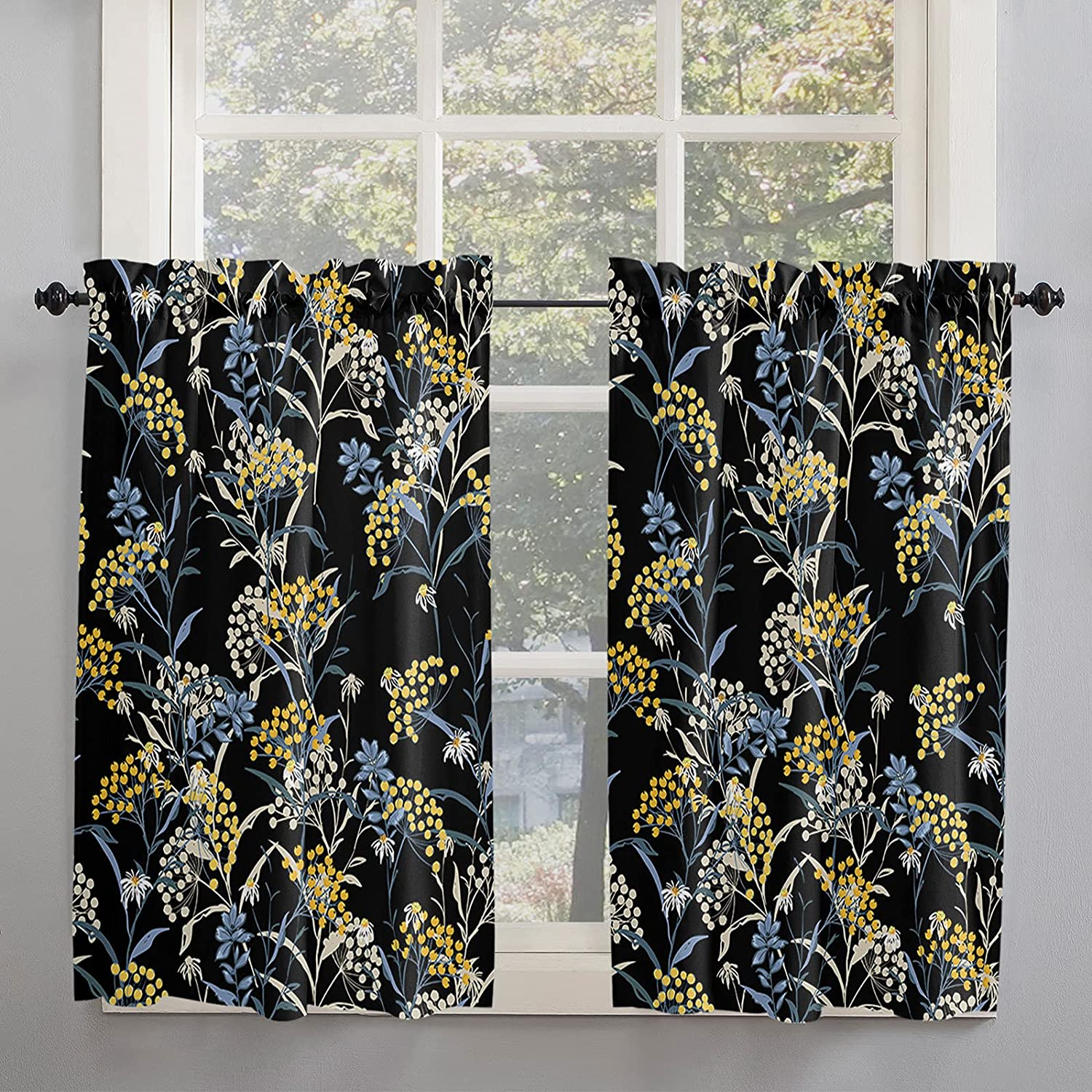 Rustic cheap Style Kitchen Curtains 54 Inch Length Fall for Import Windows R