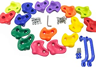 KINSPORY 16 Oversized Pig Nose Shape Rock Climbing Holds for Kids - Hardware Kit Included