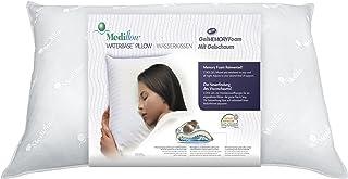 Mediflow 5003 Original Almohada de Agua ortopédica HWS, Almohada Cervical de Espuma de Gel viscoelástica con compensación de presión, ventilación y Cool Gel, algodón, Blanco, 50x70x10 cm
