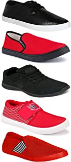 WORLD WEAR FOOTWEAR Sports Running Shoes/Casual/Sneakers/Loafers Shoes for MenMulticolors (Combo-(5)-1219-1221-1140-748-782)
