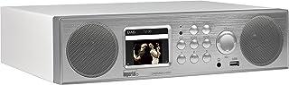 Imperial 22 246 00 Dabman i450 Internet /DAB+ Radio (2.1 Sound,Bluetooth,Internet/DAB+/DAB/UKW,WLAN,LAN,USB,Aux In,Line Out,inkl. Netzteil) silber/weiß
