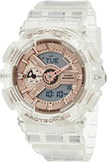 Casio G-Shock GMA-S110SR-7ADR Resin Band Analog-Digital Watch for Women - Clear and Rose Gold