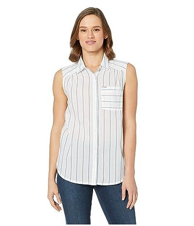 Columbia PFG Sun Driftertm II Sleeveless Shirt (Impulse Blue Stripe) Women