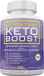 Ultra Fast Keto Boost - Advanced Weight Loss with Metabolic Ketosis Support - 800MG - 60 Capsules - 30 Day Supply