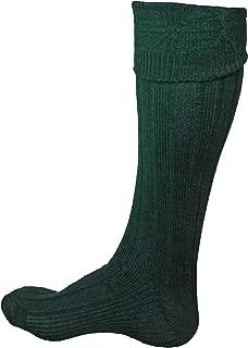 Scottish Kilt Hose for Men, Ribbed Socks for USA Shoe Sizes REMOVED