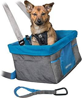 Kurgo Car Pet Booster Seat for Dogs or Cats   Front & Rear Dog Car Seat   Travel Carrier Carseat for Pets   Dog Seatbelt Tether   Helps with Canine Car Sickness   Rover   Skybox   Journey   Heather