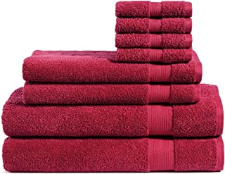 Best red bath towels Reviews