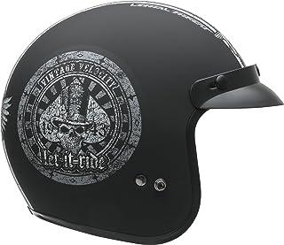 7ffc0d28 Vega Helmets Unisex-Adult Open Face Motorcycle Helmet (Let it ride Graphic,  XX