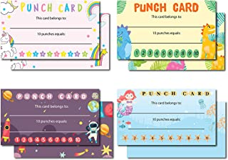 Avamie 240 Pack Kids Punch Cards, Incentive Loyalty Reward Card for Classroom, Teachers, UStudents, Parents, Kids, Busines...