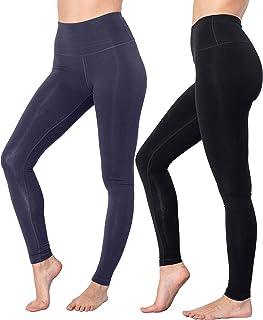 90 Degree By Reflex - High Waist Cotton Power Flex Leggings - Tummy Control