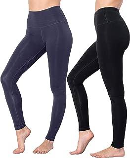 90 Degree By Reflex High Waist Cotton Power Flex Leggings - Tummy Control