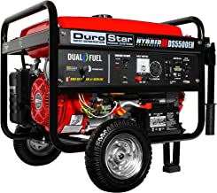 DuroStar DS5500EH Gas Powered 5500 Watt Electric Start Portable Generator, Red/Black