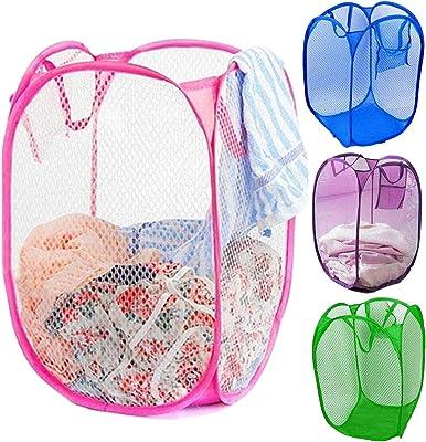 Kuber Industries Nylon 4 Piece Mesh Laundry Basket,30Ltr (Multi)-CTKTC21501