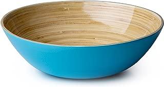 Casa Bellante Bamboo Bowl For Dining (Soup, Cereal, Salad), Wide Shape, Light Blue, 1-Piece