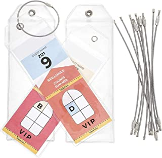 Juvale 10-Pack Clear Cruise Ship Luggage Tag Holders, 2.5 x 7.5 Inches