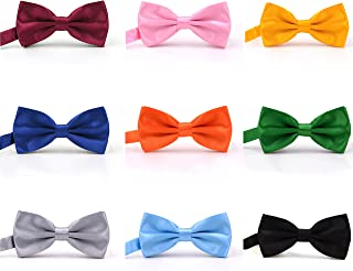 Men's Pre-tied Bow Ties-Adjustable Bow Tie for Men Boys Bow-ties in Different Colors Assorted Ties