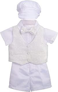 Lito Angels Baby Boys Christening Outfit & Bonnet Baptism Wedding Suit 4pcs Set