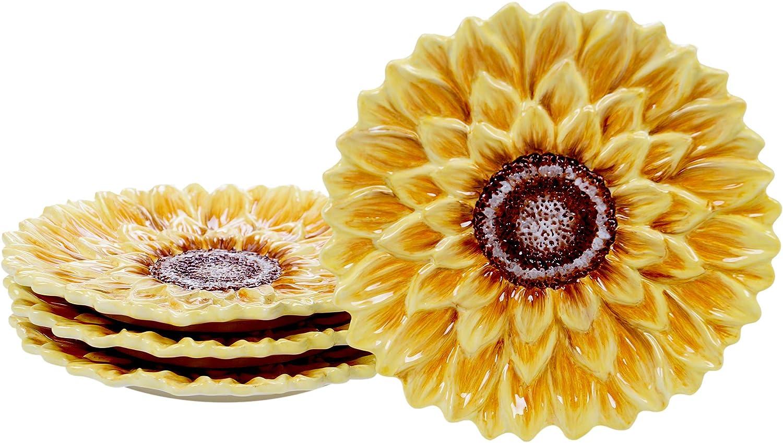 Certified International Sunset Sunflower 3-D Max Very popular 44% OFF 8.25