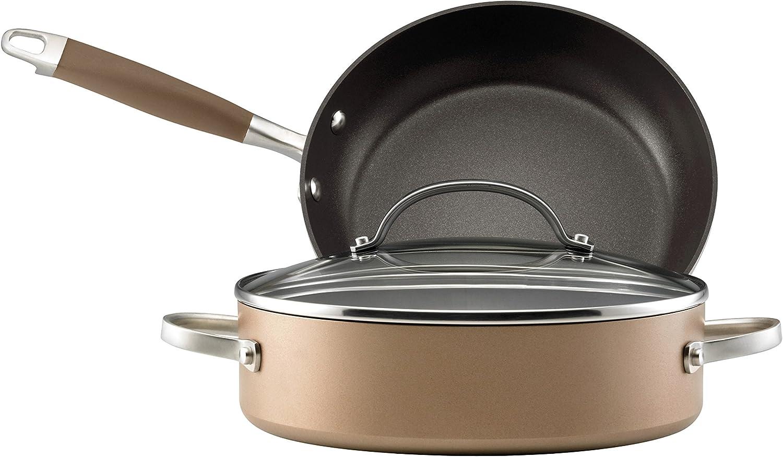Anolon Advanced Bronze Hard-Anodized Nonstick 3-Piece Cookware Set