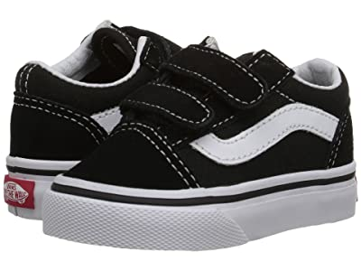 Vans Kids Old Skool V Core (Toddler) (Black) Kids Shoes