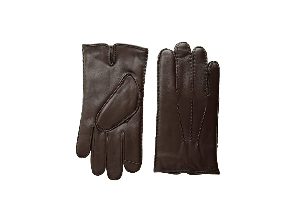Polo Ralph Lauren Cashmere Lined Gloves (Circuit Brown) Over-Mits Gloves