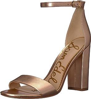 6326efbc343 Amazon.com  Gold - Heeled Sandals   Sandals  Clothing