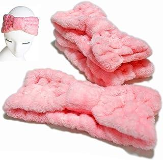 3 PACK - Microfiber Bowtie Women Beauty Headbands, Extrame Soft & Ultra Absorbent, Comfort to Wash Makeup Mask Shower Faci...
