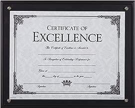 Dax 8.5 x 11 Black Certificate Award Plaque Board Slide In with Plexi Glass