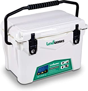 Landworks Rotomolded Ice Cooler 20QT Up to 5 Day Ice Retention Commercial Grade Food Safe Dry Ice Compatible UV Protection...