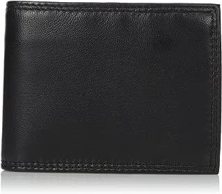 Buxton Men's Emblem Zip Convertible Nappa Lambskin Wallet