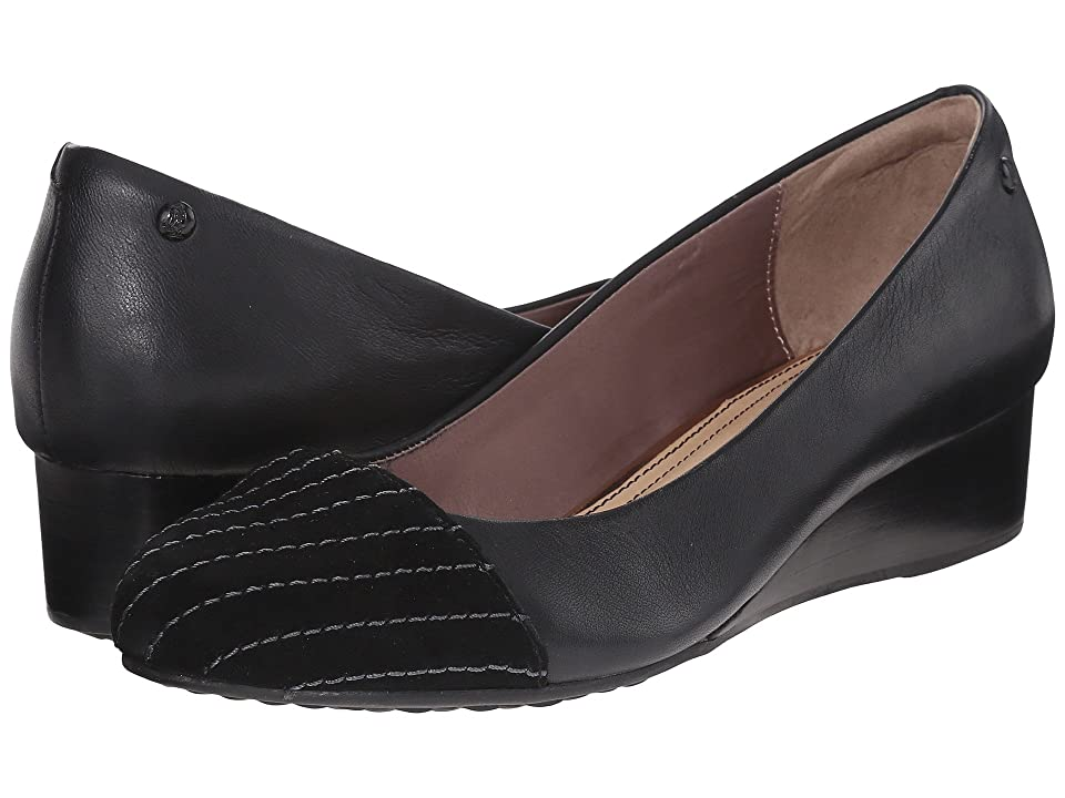 Hush Puppies Britt Admire (Black Leather/Suede) Women