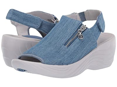 Bzees Zipline (Washed Denim Fabric) High Heels