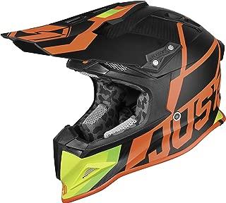 Just 1 J12 Unit Carbon Helmet Red/Lime (Red, Large)