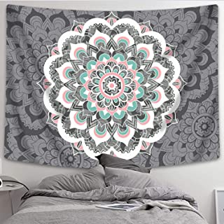 Sunm Boutique Tapestry Wall Hanging Indian Mandala Tapestry Bohemian Tapestry Hippie Tapestry Psychedelic Tapestry Wall Decor Dorm Decor(Colorful,59.1