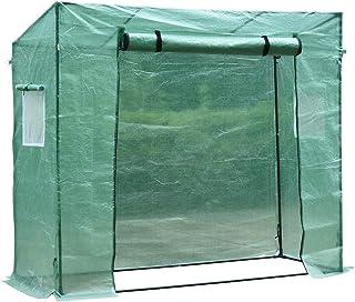 HOMCOM Invernadero de Jardín Exterior 200x77x170 cm Tubo de