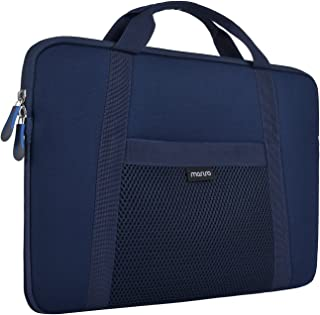 MOSISO Laptop Sleeve Briefcase Bag Compatible 11.6-12.5 inch Chromebook Ultrabook Notebook PC, Also Compatible 13 Inch MacBook Pro Touch Bar, Water Repellent Mutispandex Memory Foam, Navy Blue