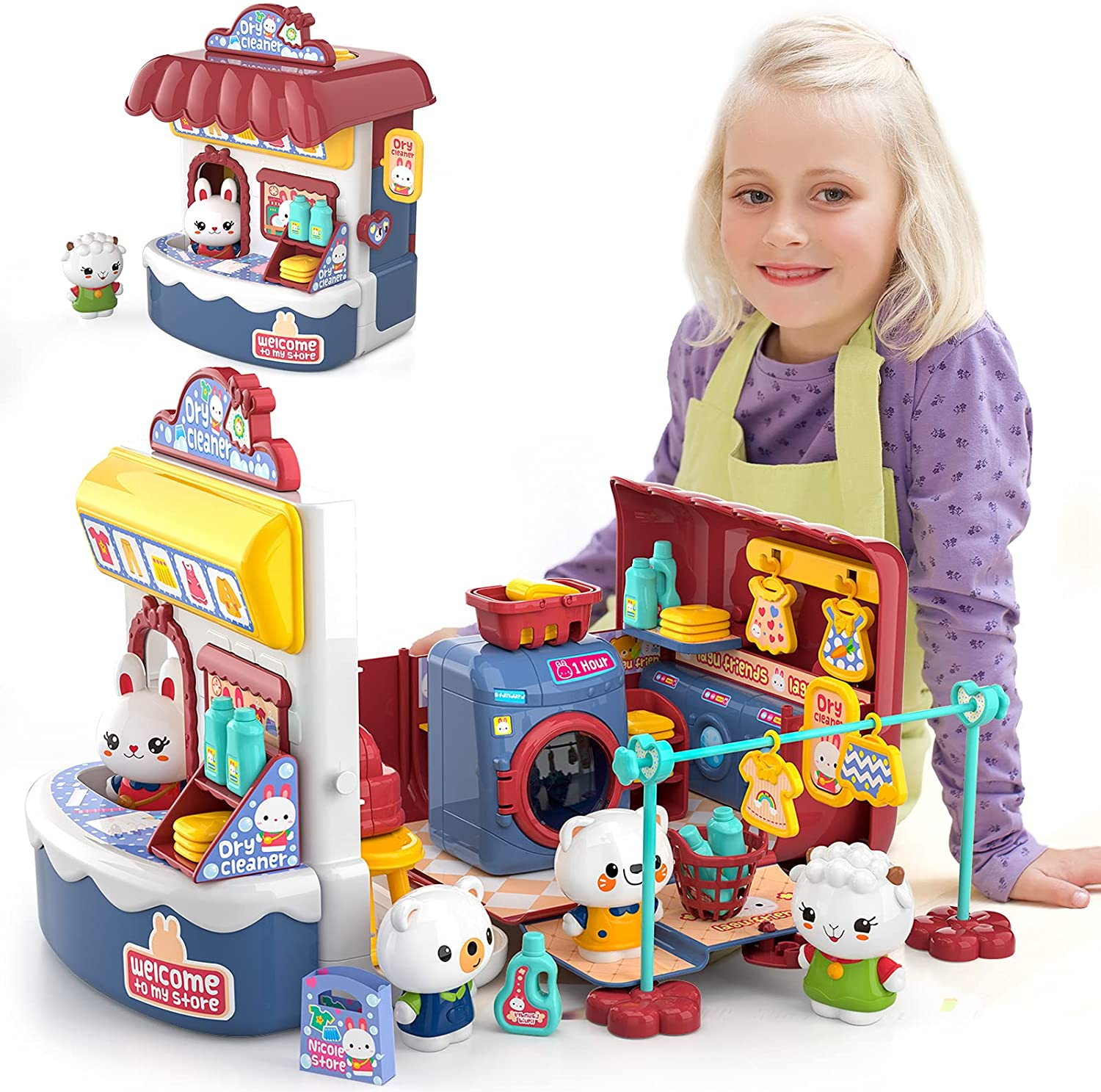 Free Shipping New Lucky Doug Pretend Play Doll Playset Super Special SALE held Toys Toddler Girls Kids for