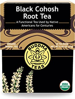 Organic Black Cohosh Root Tea – 18 Bleach-Free Tea Bags -Supports Healthy Sleep, Pain-Relief, Supports Women's Health, No ...
