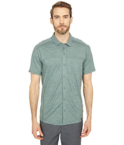 Smartwool Merino Sport 150 Short Sleeve Button Down (Sage Heather) Men