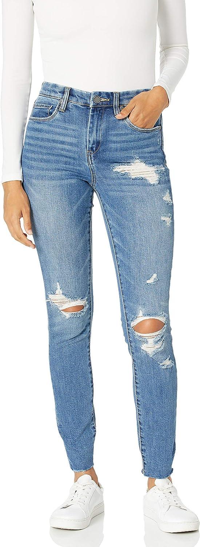 [BLANKNYC] Women's High-Rise Distressed Skinny Jeans |