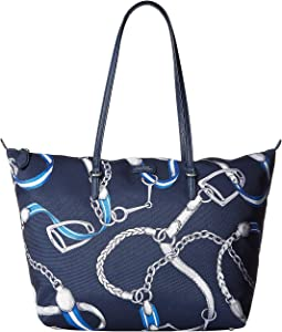 Navy Signature Belting Print