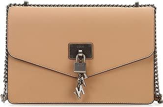 DKNY Elissa Leather Medium Shoulder Flap