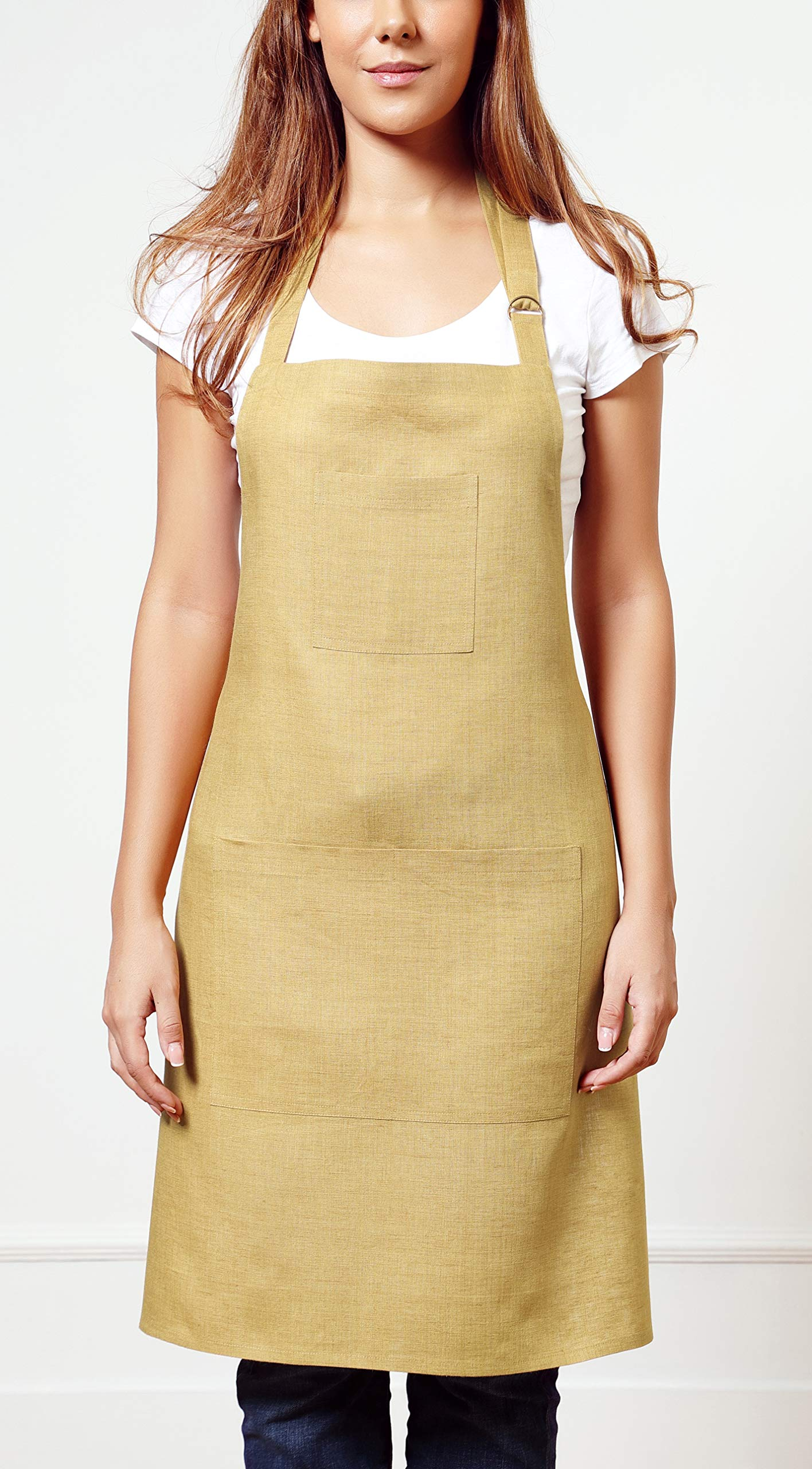 Japanese Style kitchen wear apron for women linen MADE with PURE LOVE