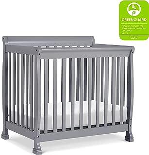 DaVinci Kalani 4-in-1 Convertible Mini Crib in Grey | Greenguard Gold Certified