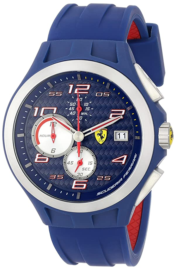 Ferrari Men's 830075 Stainless Steel Watch with Blue Band